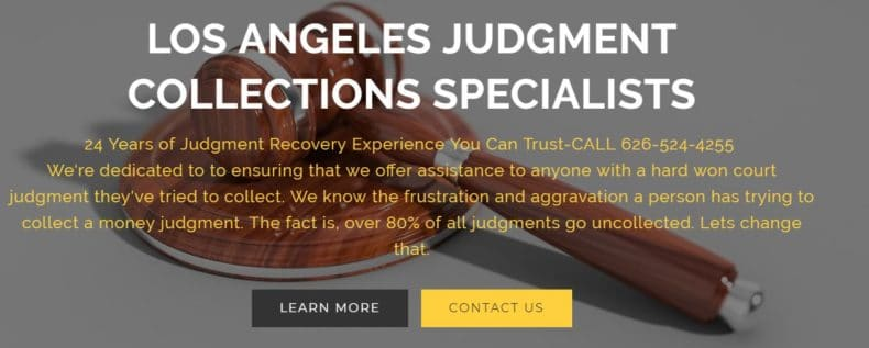 All About The Los Angeles Judgment Collection Specialists